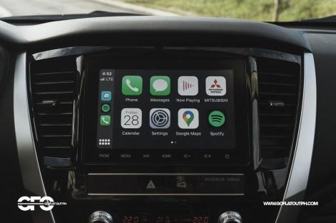 2020 Mitsubishi Montero Sport 8-inch infotainment system Apple CarPlay