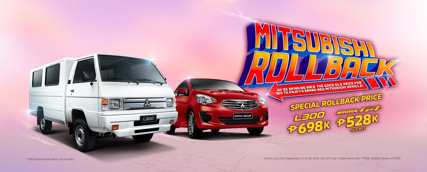 Mitsubishi PH Is Rolling Back The Prices Of Mirage G4 And L300