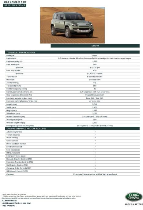 21MY Defender 110 S D240-1