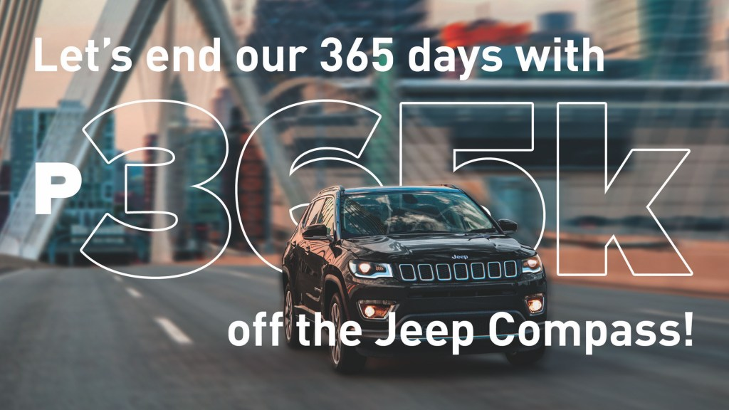 End The Year With P365,000 Off On The Jeep Compass
