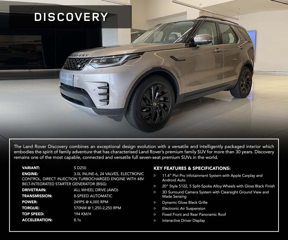 2021 Land Rover Discovery Philippines Specs