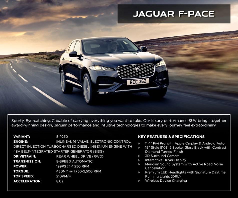 2021 Jaguar F-Pace S D200 Philippines Interior