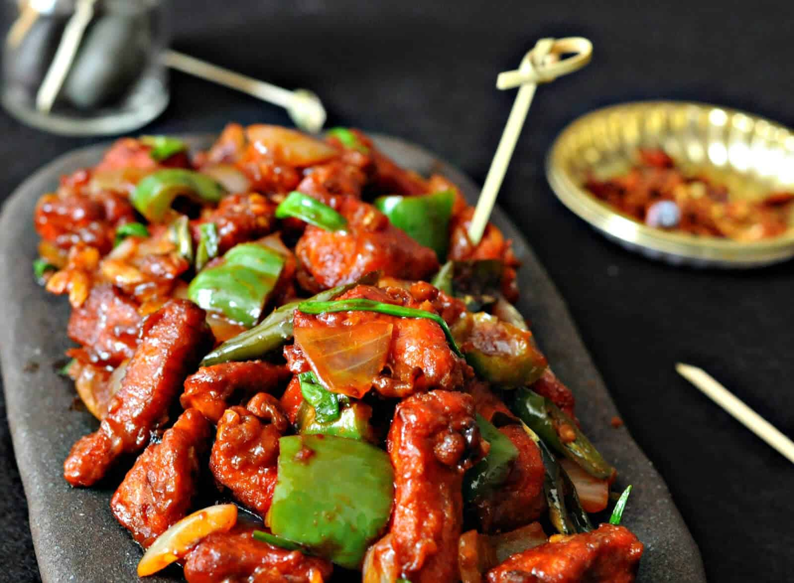 Image result for chilly chicken