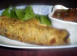 Eggplant Salsa Wrap