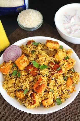 Butter Paneer Biryani – Biryani For Lacto Vegetarians