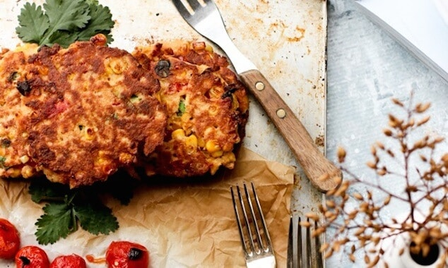Coconut Soy Paneer Fritters