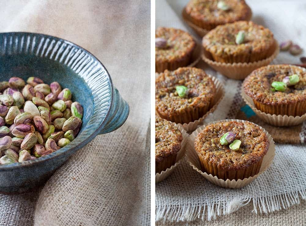 Date And Pistachio muffin
