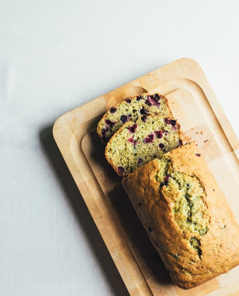 Black Currant And Mint Zucchini Bread