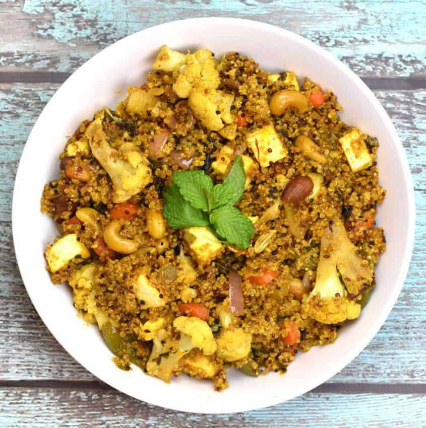 Cauliflower Quinoa Biryani – Delicious Vegan Biryani
