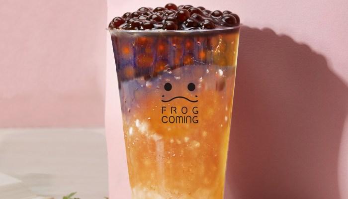青蛙來了|台中飲料|古早味黑糖+QQ粉圓冰