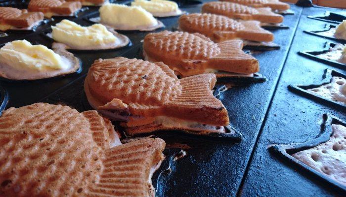 稻虎&膨風伯米鯛魚燒|台中小吃店|人氣的雕魚燒攤