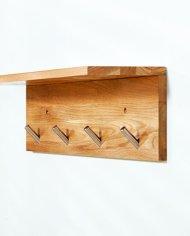wood entry wall shelf