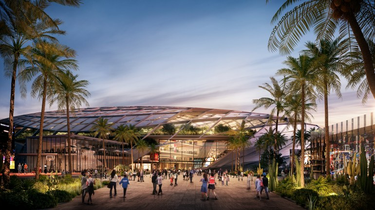 Plaza Entry - Clippers Inglewood Basketball and Entertainment Center