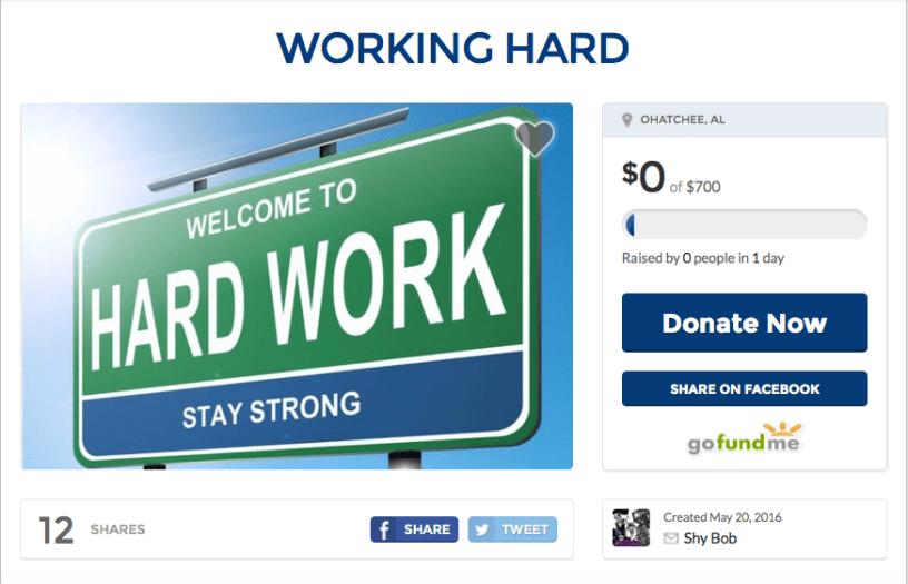 Working hard Gofundme