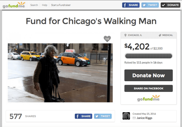 Walking Man Gofundme
