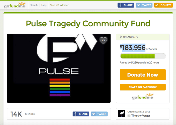 Pulse shooting Gofundme