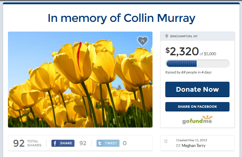 Collin Murray Gofundme