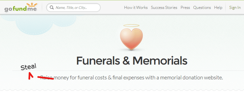 GoFundMe funeral