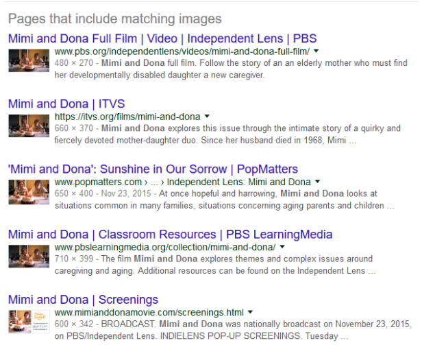 Mimi and Dona search results
