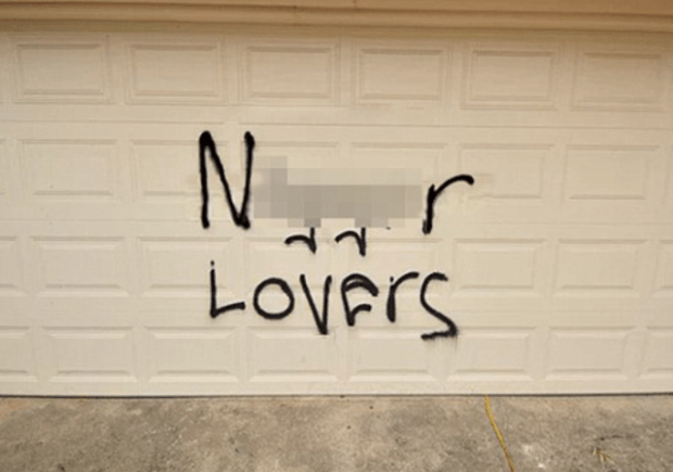 Racist graffiti Texas