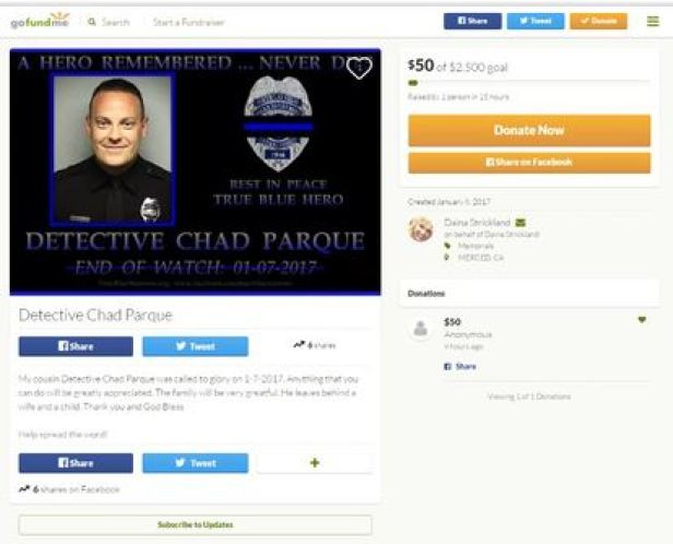 Detective Chad Parque GoFundMe