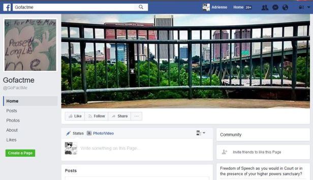 Gofactme fake Facebook page