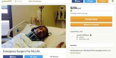 Emergency surgery fake GoFundMe