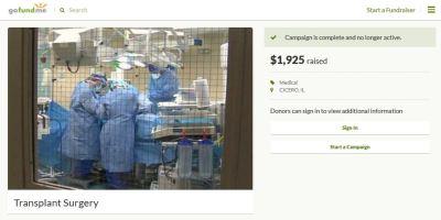 Transplant surgery fake GoFundMe