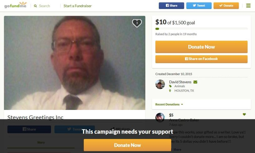 David Stevens Child Rapist GoFundMe