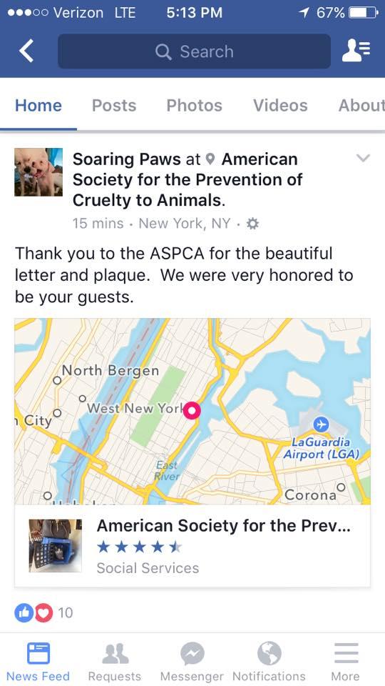 ASPCA Soaring Paws