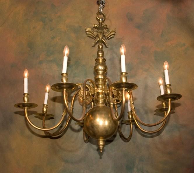 Brass Flemish Chandelier