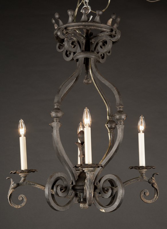 French Cast Iron Chandelier