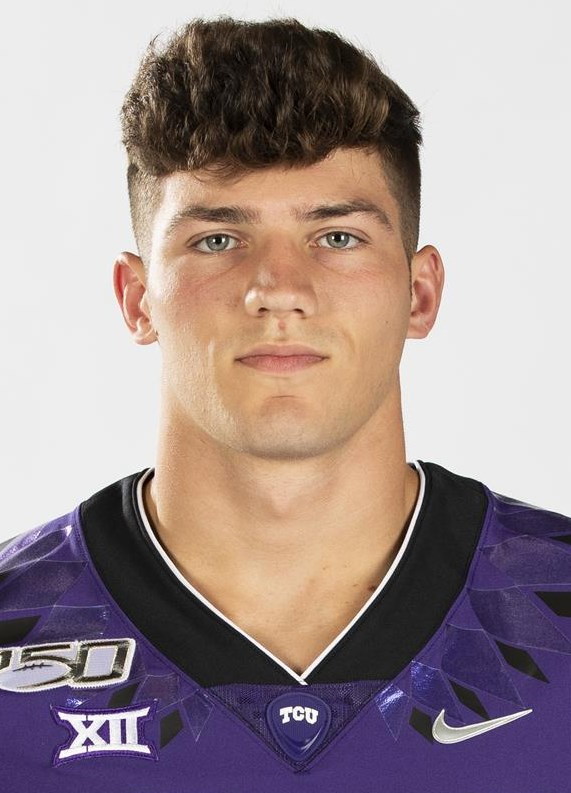 Texas Christian University Football #34 Zach Marcheselli photographed at TCU in Fort Worth, Texas on July 24, 2019. (Photo/Sharon Ellman)    TCU Football Contact Mark Cohen m.cohen@tcu.edu