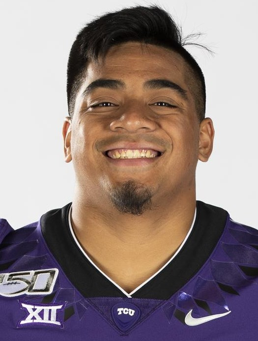 Texas Christian University Football #43 Izaih Filikitonga photographed at TCU in Fort Worth, Texas on July 24, 2019. (Photo/Sharon Ellman)    TCU Football Contact Mark Cohen m.cohen@tcu.edu