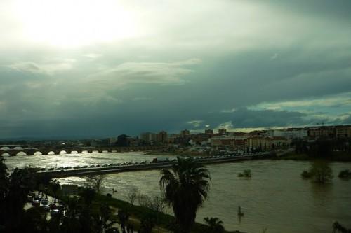 スペインとポルトガルの国境を流れるグアディアナ川