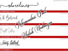 rekomendasi font untuk undangan dan keplek hajatan