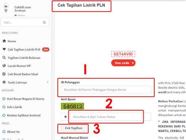 Cara Cek Tagihan Listrik di Website PLN 2