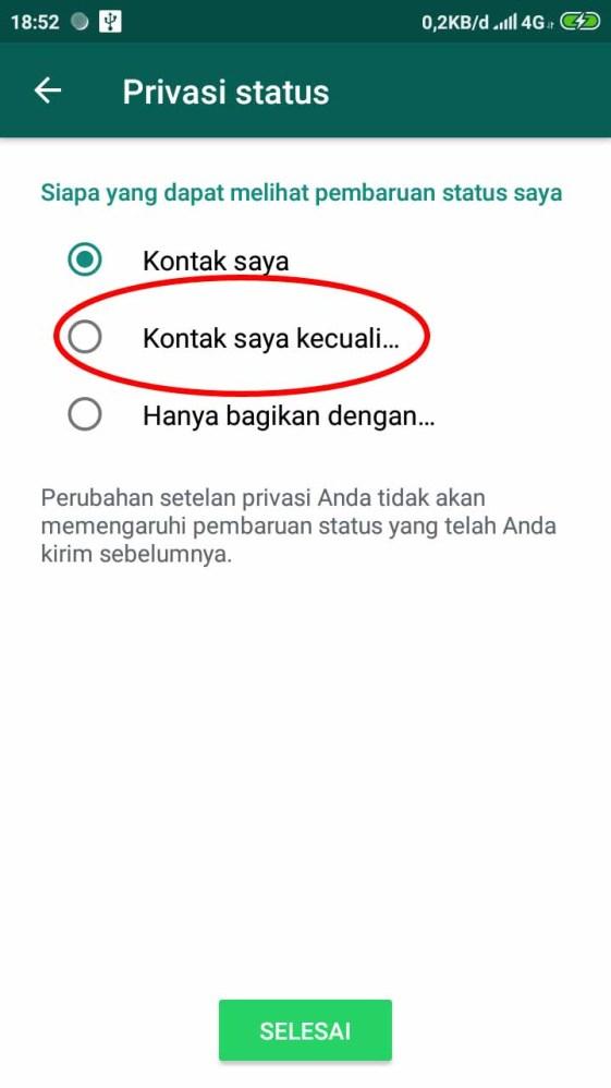 Cara Agar Orang Lain Tidak Bisa Melihat Status Whatsapp Kita3