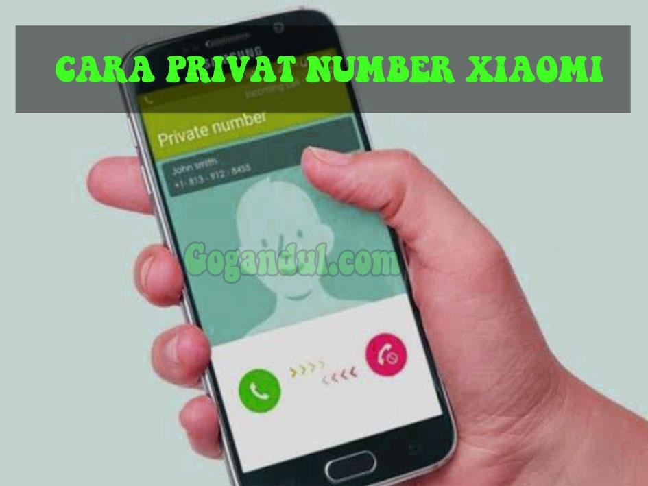 Cara Menyembunyikan Nomor Ponsel di HP Xiaomi