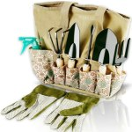 Scuddles Garden Tools Set - 8 Piece Heavy Duty Gardening Kit