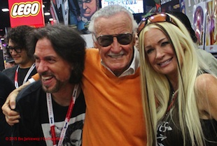 Marc Silvestri, Stan Lee, Bridget Silvestri - Top Cow SDCC15