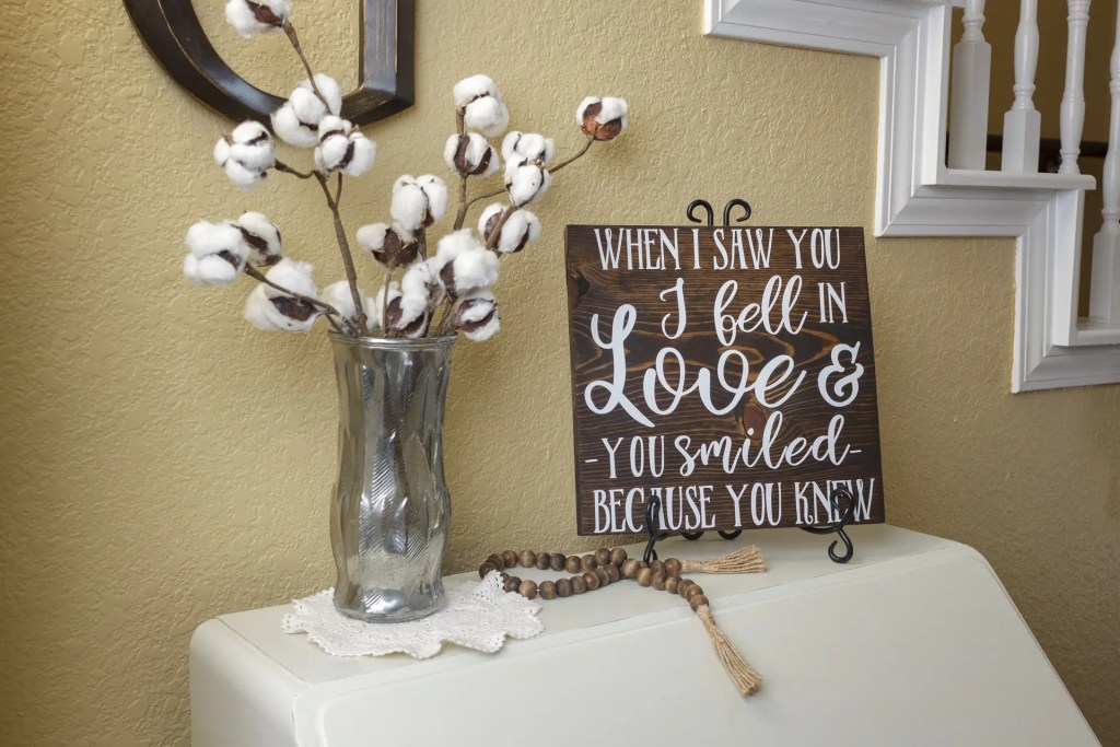 Love at First Sight Handmade Solid Wood Sign