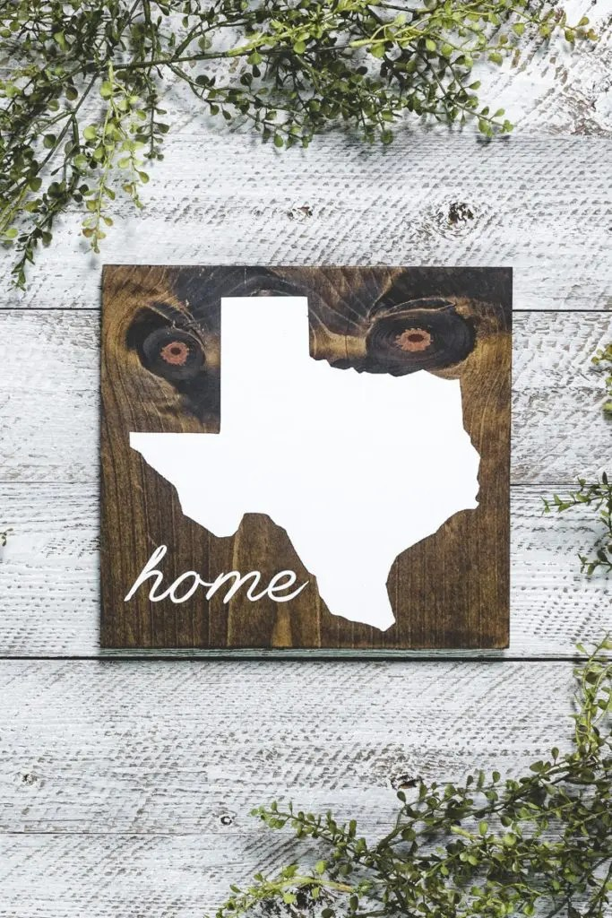 Texas Home State Handmade Solid Wood Sign