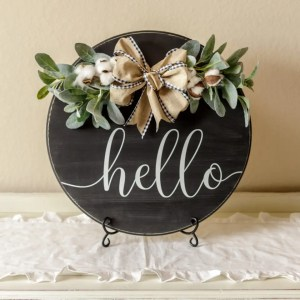 Hello Handmade Solid Wood Sign