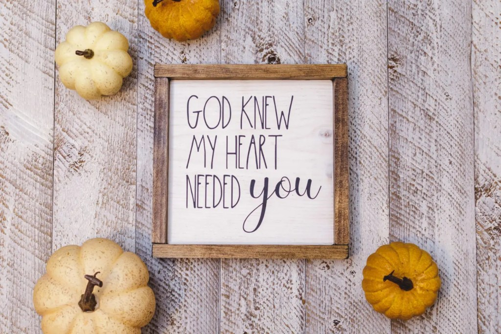 God Knew Handmade Solid Wood Sign