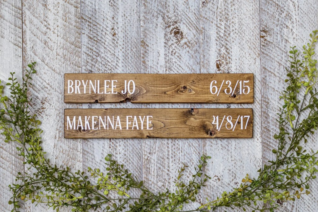 Birthday Dates Solid Wood Sign