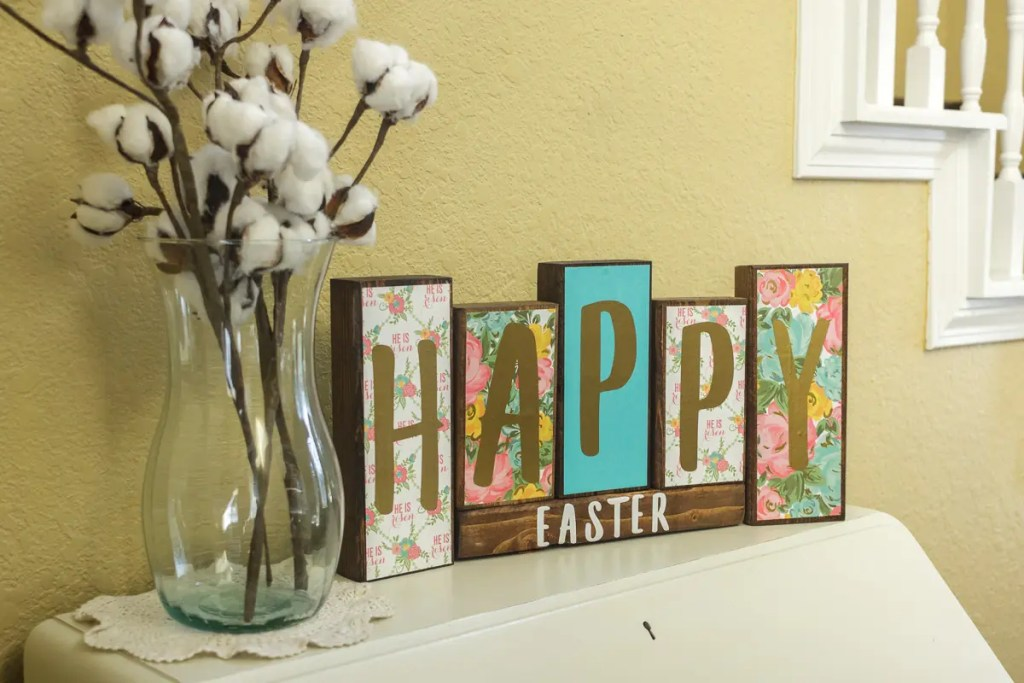 Easter Handmade Solid Wood Sign