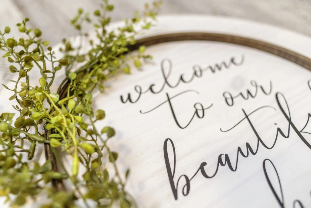 Welcome Handmade Solid Wood Sign