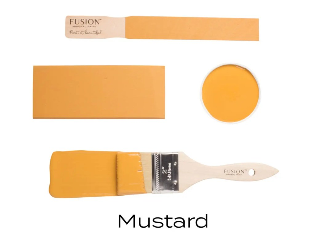 Fusion Mineral Paint Mustard Fall Colors