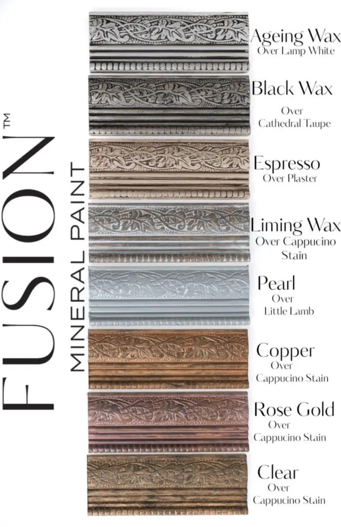 Fusion Mineral Paint Wax Finishes